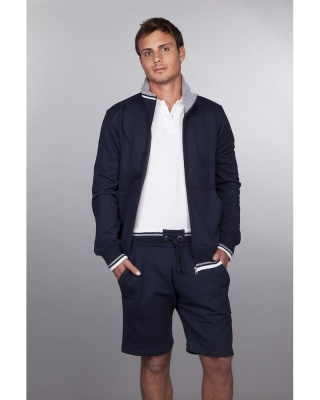 IT305 Stile Contrast - felpa jacket french terry