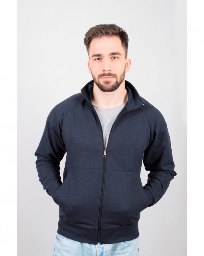 IT307 Stile Attiva - jacket in felpa french terry zip lunga