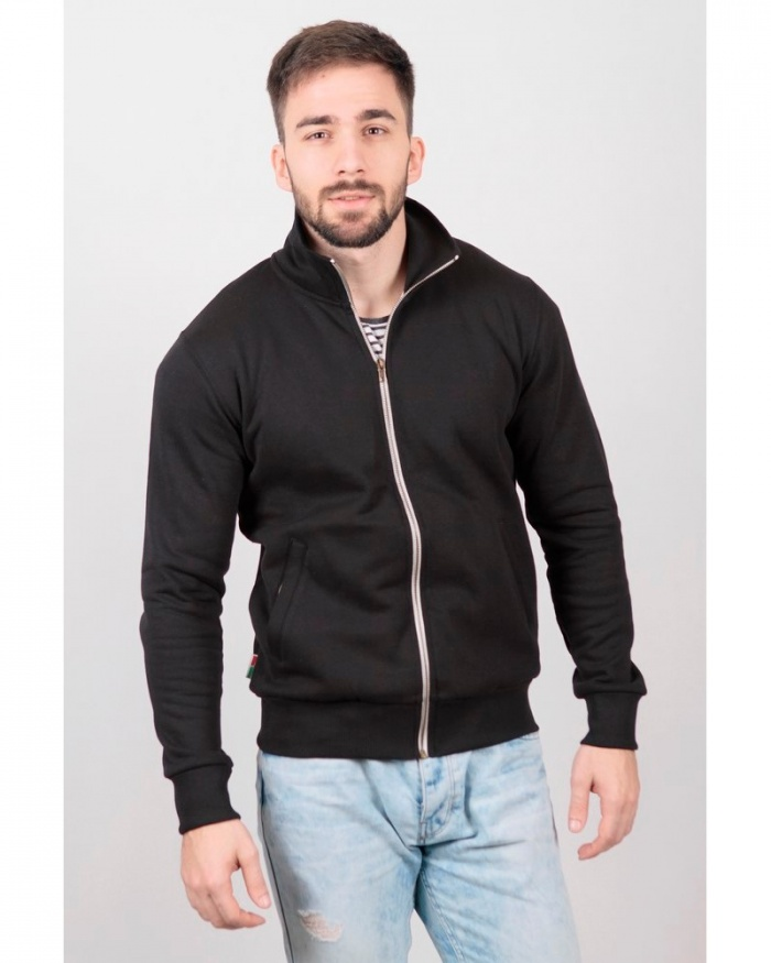 IT429 Stile Contrast - felpa jacket zip lunga