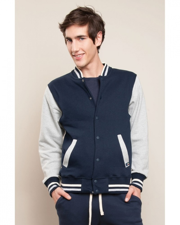 ​IT450 Stile Moda - felpa jacket bomber bicolore