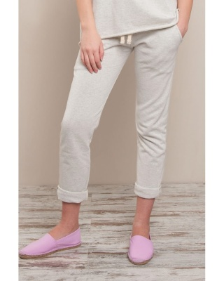 Stile Contrast donna pantalone shorter in felpa french terry
