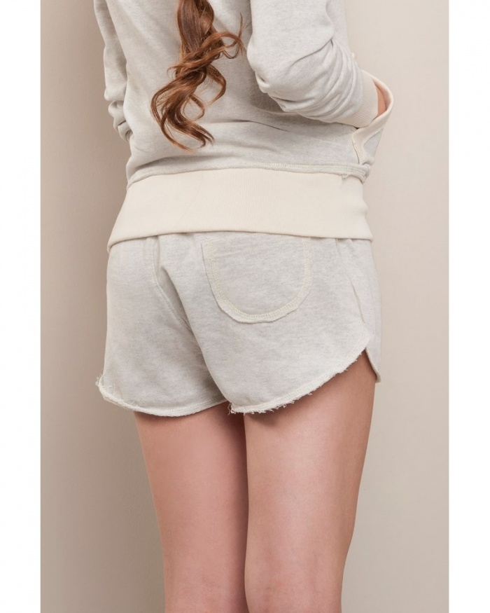IT712 Stile Contrast - donna shorts in felpa french terry