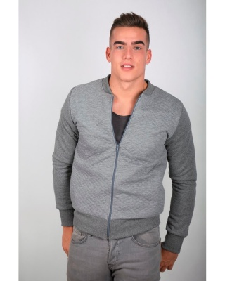 IT802 Stile Moda - bomber unisex in felpa trapuntata